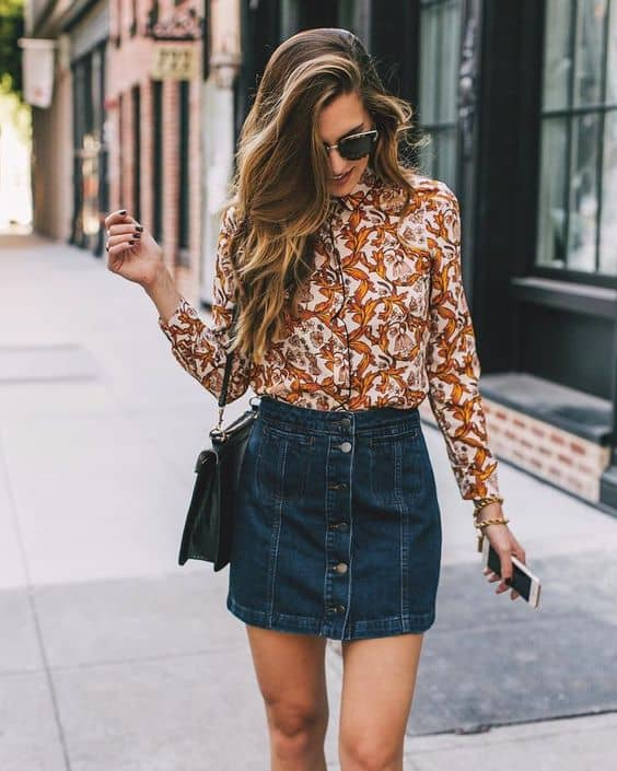 How To Wear The Denim Skirt In 2017 Like A Grown-Up? u2013 The Fashion Tag Blog