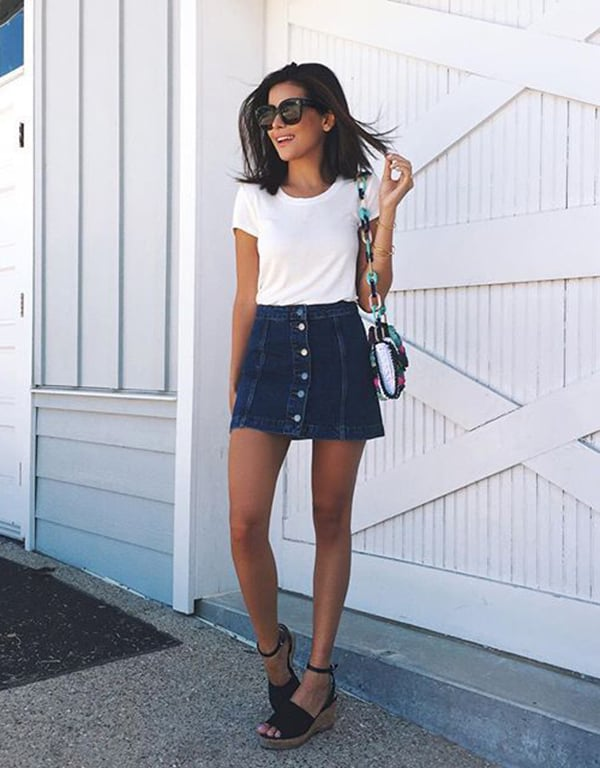 nice outfit denim skirt 8