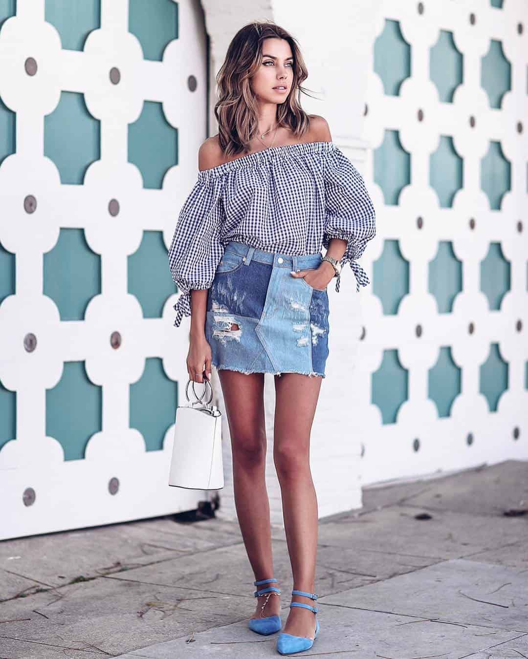 how to wear the denim skirt in 2017 like a grownup – the