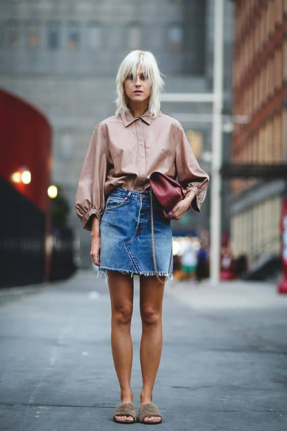 How To Wear The Denim Skirt In 2017 Like A Grown-Up? – The ...