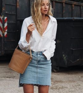How To Wear The Denim Skirt In 2017 Like A Grown-Up?