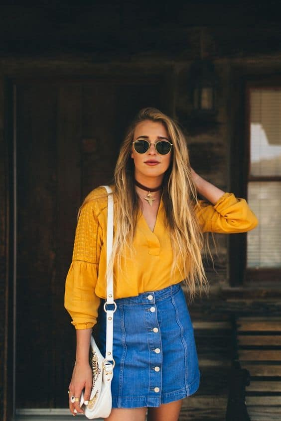 How To Wear The Denim Skirt In 2017 Like A Grown Up Fashion Tag Blog
