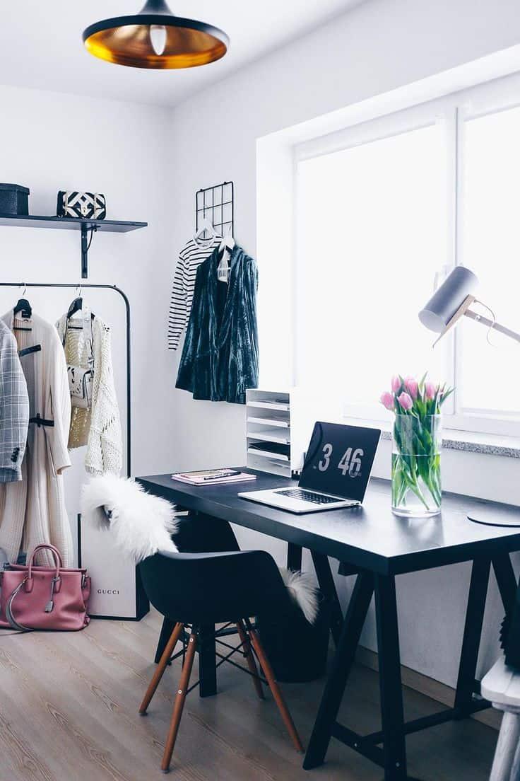 Bloggers' Office Decor: Glam White VERSUS Mysterious Dark