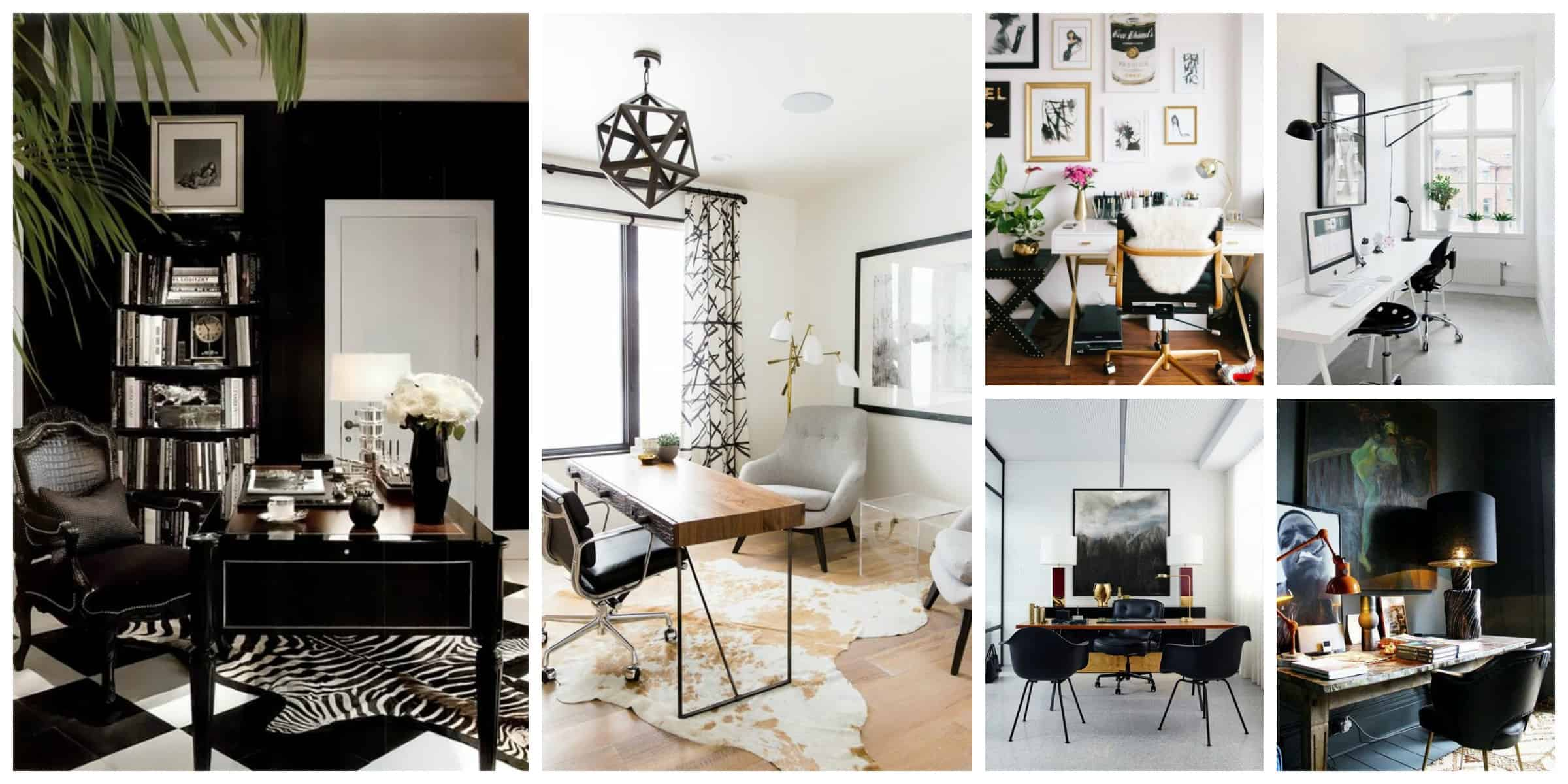 Bloggers' Office Decor: Glam White VERSUS Mysterious Dark ...