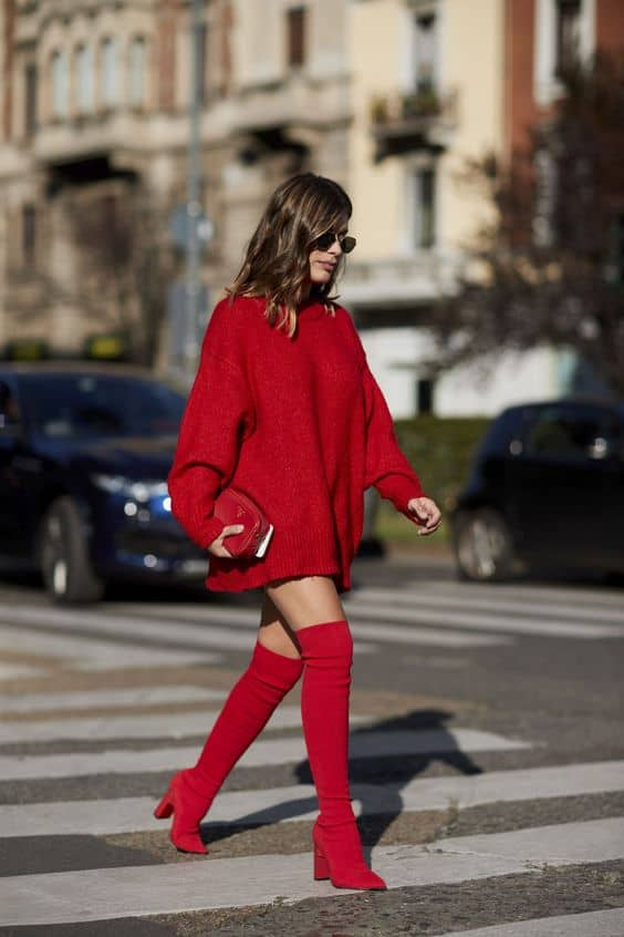 red-boots-2018-trend-street-style-7.jpg (564×846)