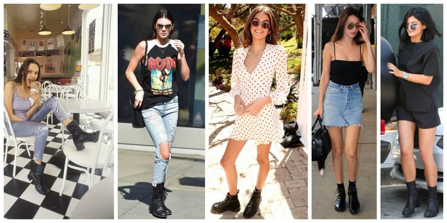 2019 year looks- Fashion Fall combat boots pictures