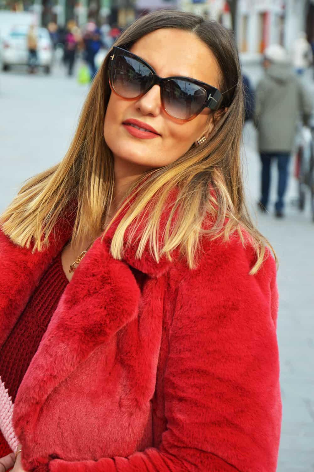 Red Fur Coat The Fashion Tag Blog